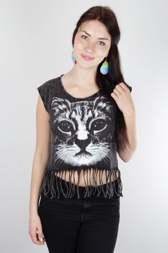 This kitty top is absolutely adorable!