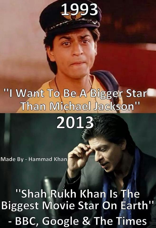 SRK true quote: my most favorite movie in whole world KABHI HAKABHINA..HAPPY BIRTHDAY SRK!!!