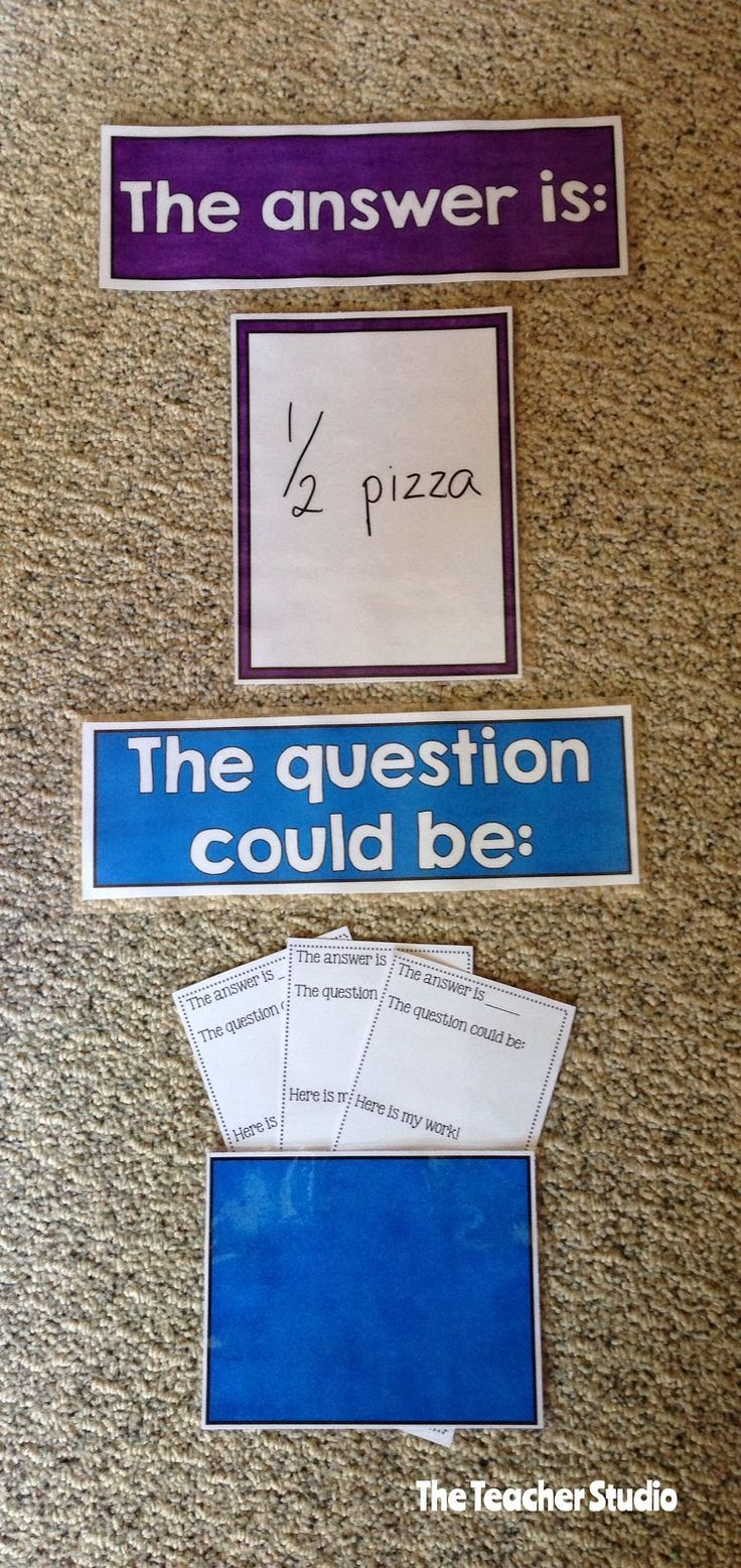 """Thinking deeper about math. """"The answer is ___."""" """"What is the question?"""""""