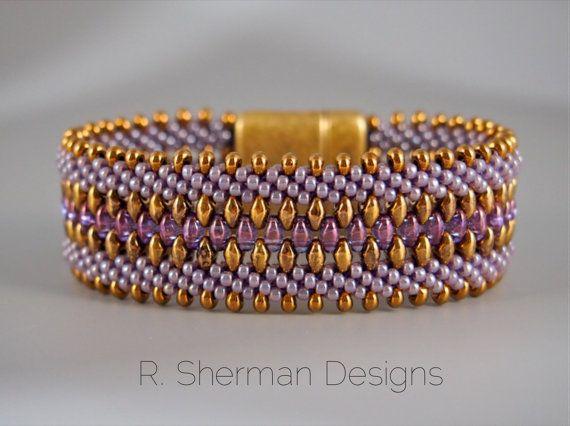 PDF TUTORIAL Kumihimo Beaded Cuff Bracelet by RShermanDesigns