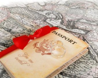 Pasaporte a París invitación pasaporte invitación por AmiraDesign