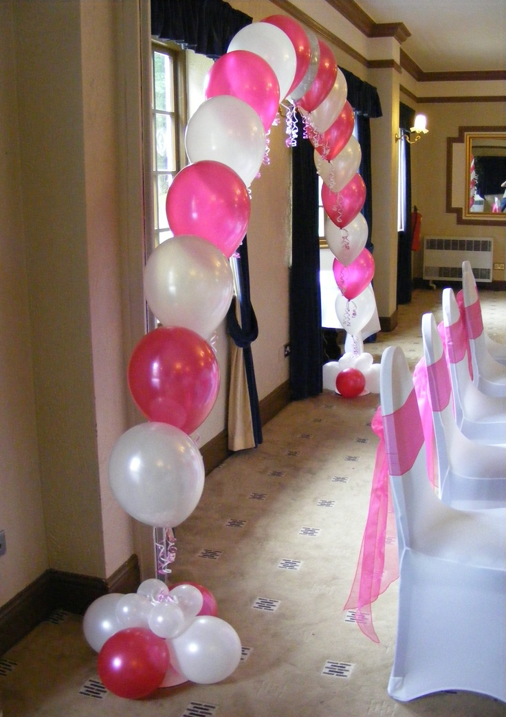95 best images about balloon columns and arches on for Balloon decoration arches