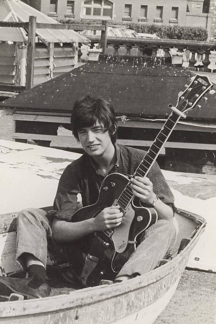 "Chris Spedding with ""The Gretsche"" in 1966."