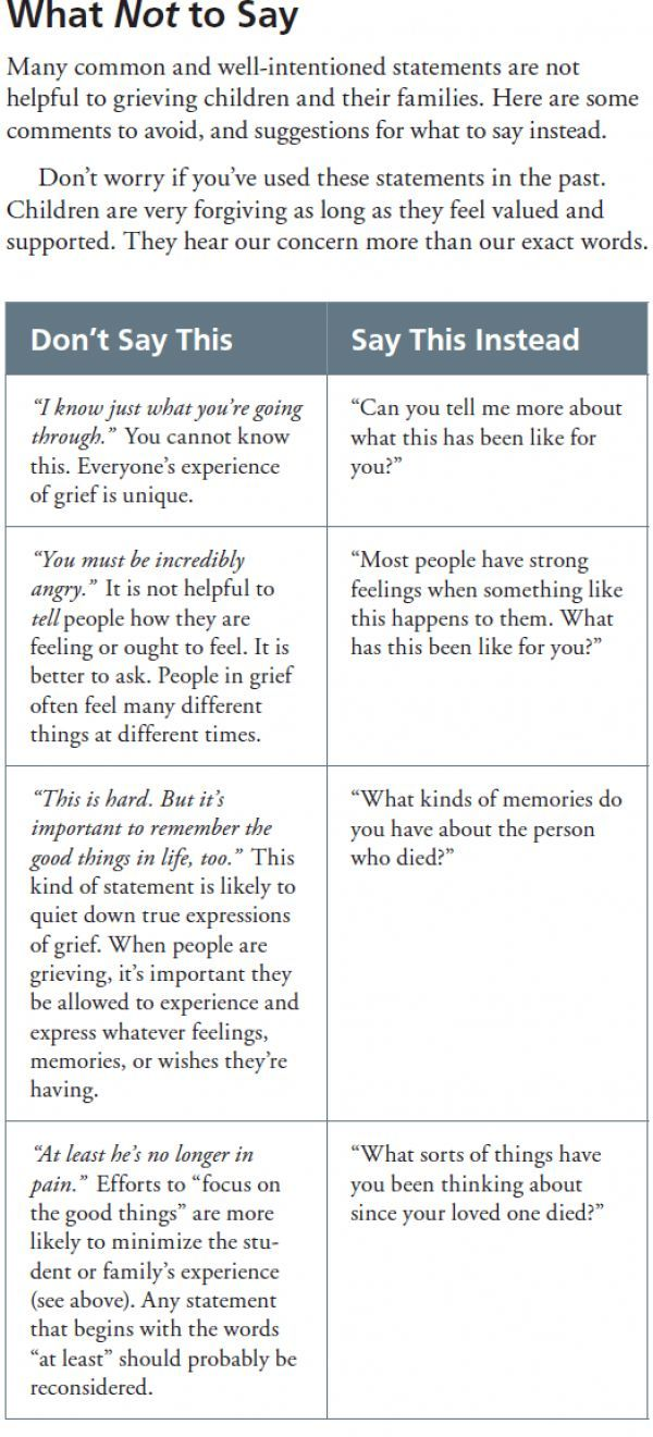 What Not To Say To Grieving Students And Other Tools To