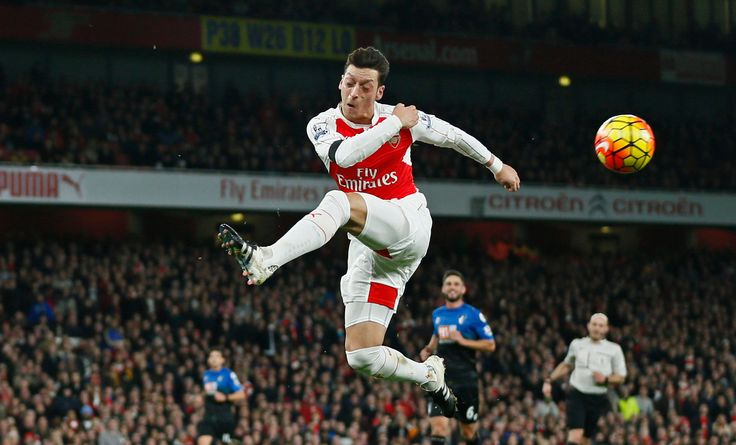 Arsenal's Mesut Ozil had a goal in the 2-0 victory over Bournemouth on Monday 12-28-15