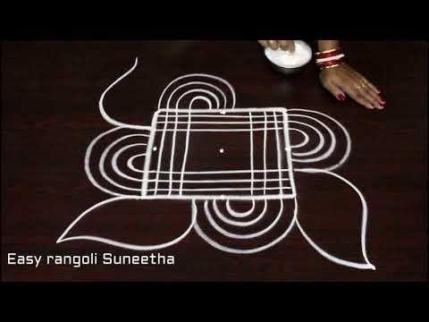 creative dhanurmasam muggulu designs with 3x3 dots || Margazhi kolam designs || easy rangoli designs - YouTube
