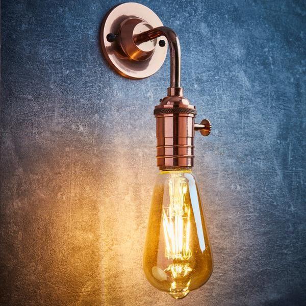 Vintage Edison Bulb Holder Barn Light - Wall Sconce - Brass, Pewter & Copper