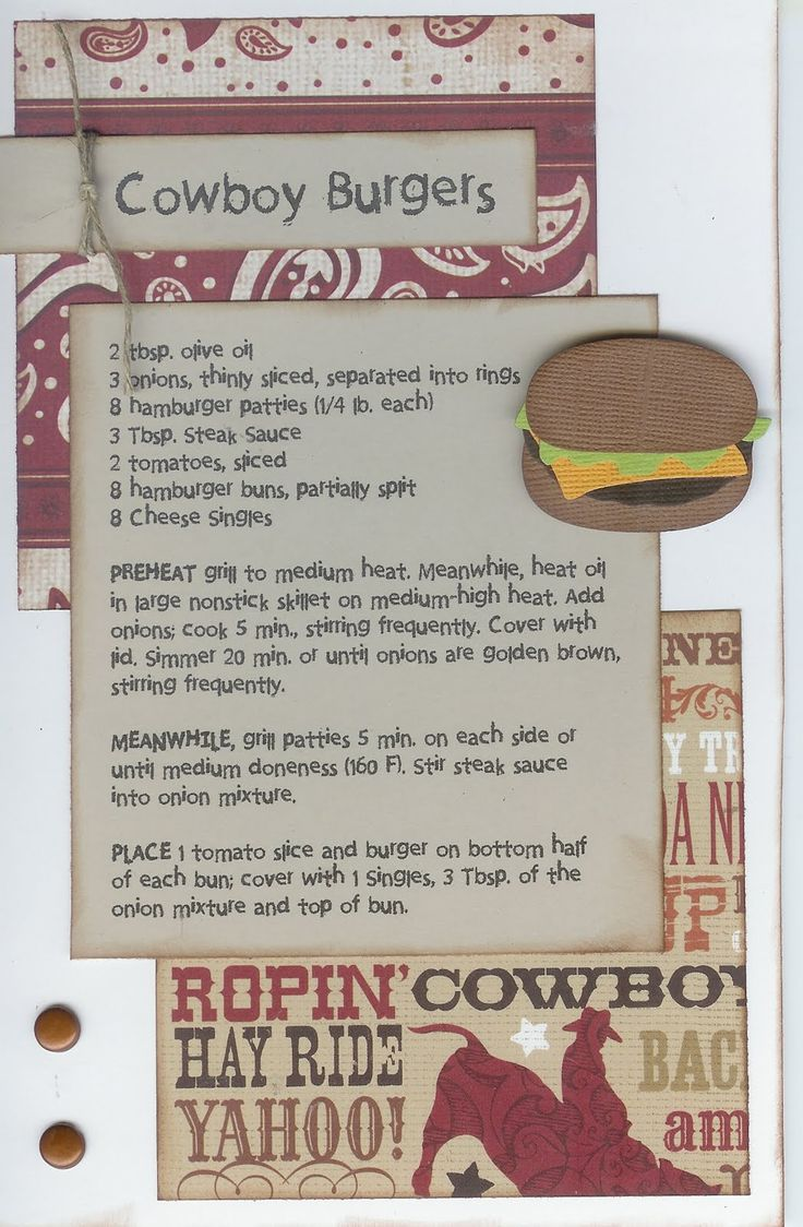 How to scrapbook a recipe book - Paper Cottage Recipe Of The Week