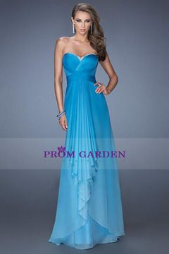 Prom Dresses A Line Sweetheart Sleeveless Floor Length Zipper Up Back With Ruffles