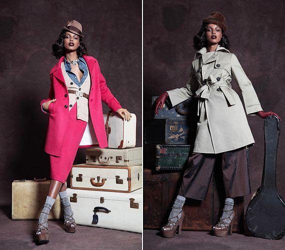 Színes és visszafogott szett utazós hangulatban: a munkásosztályt idéző, praktikus farmering kifejezetten jól passzol a nőies, elegáns stílusjegyeket felvonultató öltözékhez.