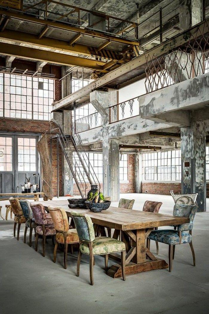 comment bien amenager loft et associé, meuble tv industriel pas cher, sol en béton ciré
