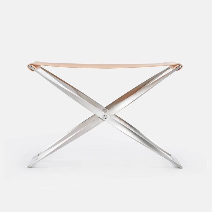 Fritz Hansen — Pk91 Folding Stool Natural Leather — THE LINE