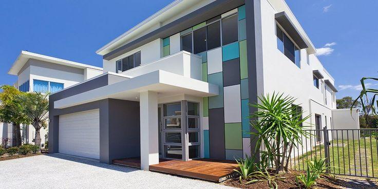 Moderne architektur kleines haus außen indisches haus 4 zimmer haus modernes wohnen außenfarben außenlackierung farbkombinationen haushöhe moderne