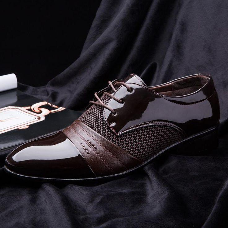 Vintage Design Men's Casual Leather Shoes(Black,Brown)