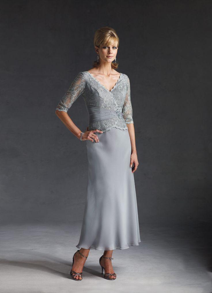 Full Sleeve Tea Length Cocktail Dresses