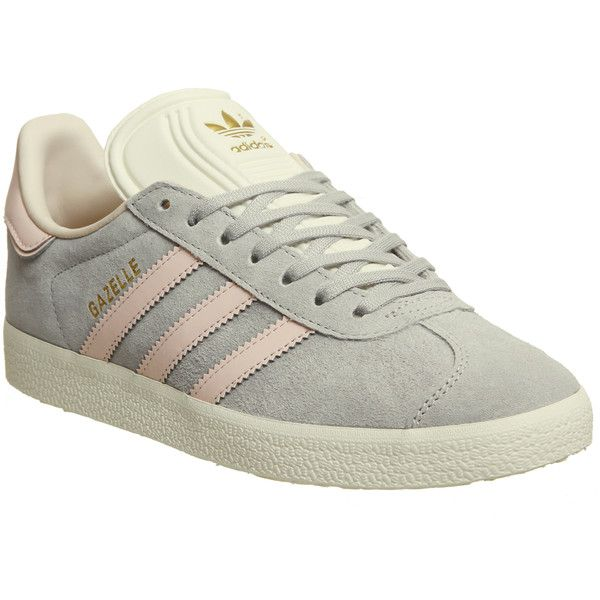 Adidas Gazelle Trainers Grey Two Icey Pink Cream White Exclusive ...
