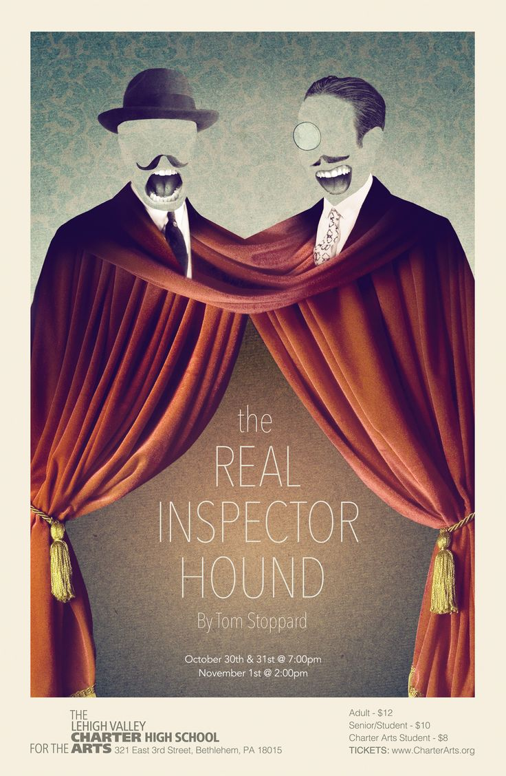 New work: Real Inspector Hound theatre poster created for the Lehigh Valley  Charter High School