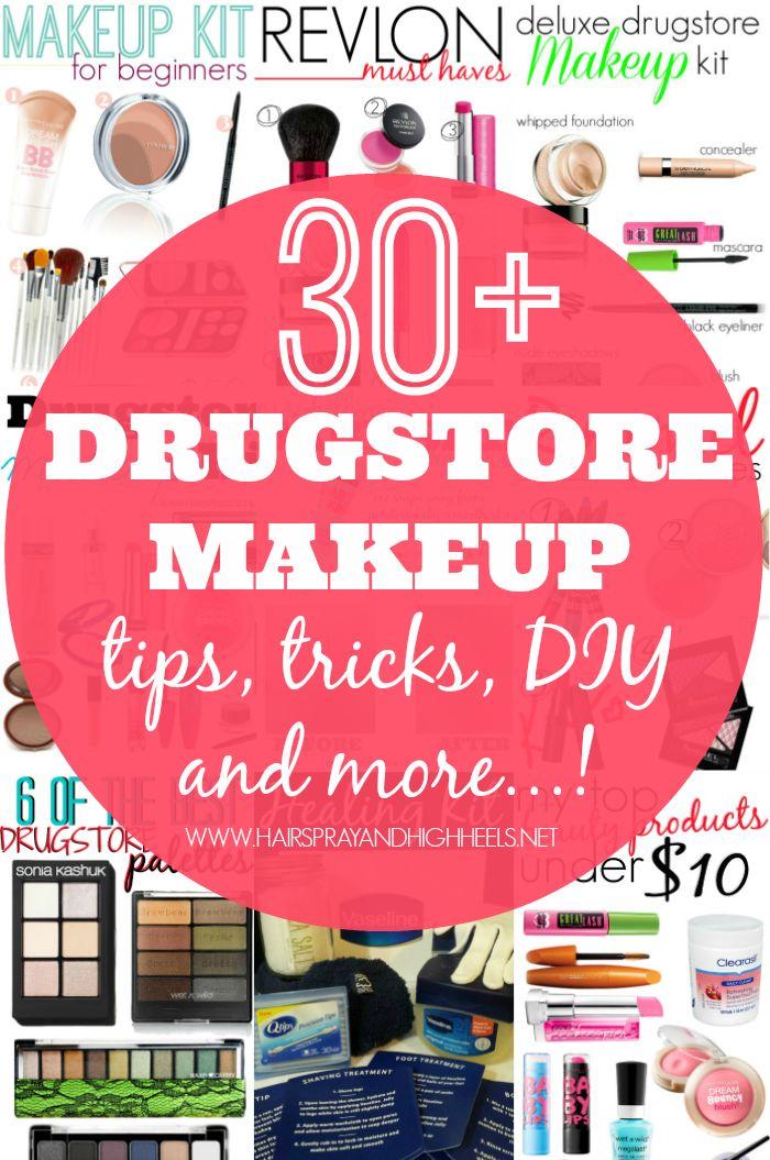 30+ Drugstore Makeup Posts! Pin now, read later! Tips, Tricks, DIY and more! #bestdrugstoremakeup #drugstoreproducts #makeup #beauty via @Krista McNamara McNamara Knight and HighHeels