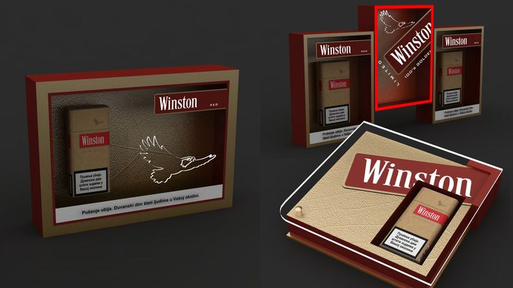 Winston Winston HORECA promo material design. Inspired by company visual identity. Bar display, wall displays, presenter. Materials: aluminium, acrylic plates, LED lighting. Client: JTI, agency: L&F, Belgrade 2013.