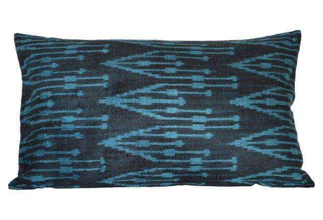 Alara 16x24 Silk Pillow, Blue