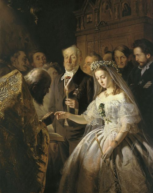 Vasily Vladimirovich Pukirev (1832-1890) (Russian)  The Unequal Marriage