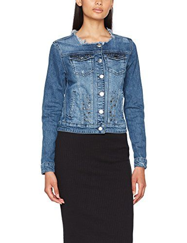 855 Bleu denim Jean Veste 1706 700 Rich Royal En Femme amp; Blue tq48H