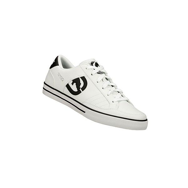 Unltd. By Marc Ecko Rake - Hendrick Sneaker found on Polyvore featuring polyvore, women's fashion, shoes, sneakers, 835_60_600, shock absorbing shoes, embroidered shoes, genuine leather shoes, perforated leather shoes and perforated leather sneakers