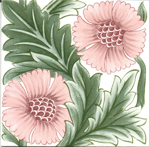 Historic Tiles - De Morgan - KL Rose Pink \ JV