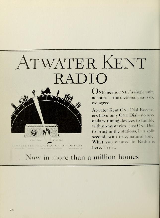 Atwater Kent Radio, 1965