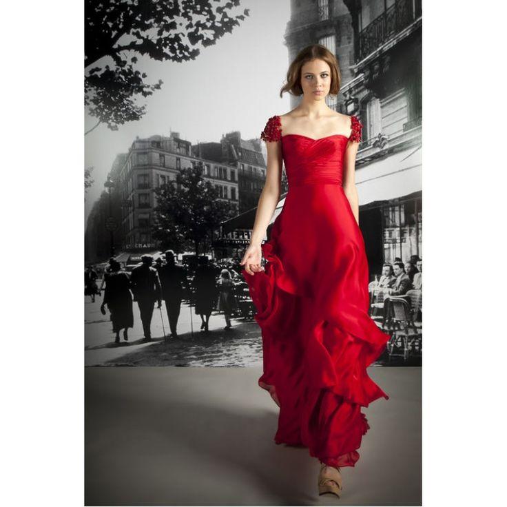 Leighton Meester (Blair) Red Custom Prom Dress in Gossip Girl Season 5