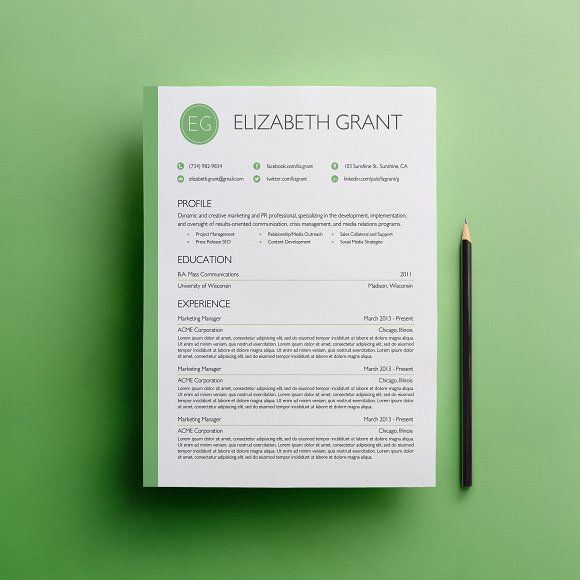 Resume & Cover Letter Template @creativework247