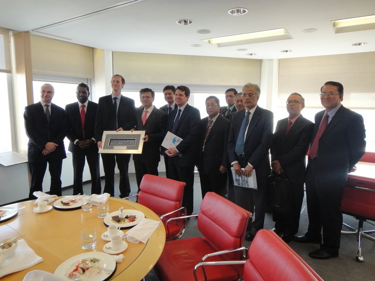 Officials from the Malaysian government meet the EIU about Liveability. They presented us with a ceramic picture of Kuala Lumpur as a gift at the end.