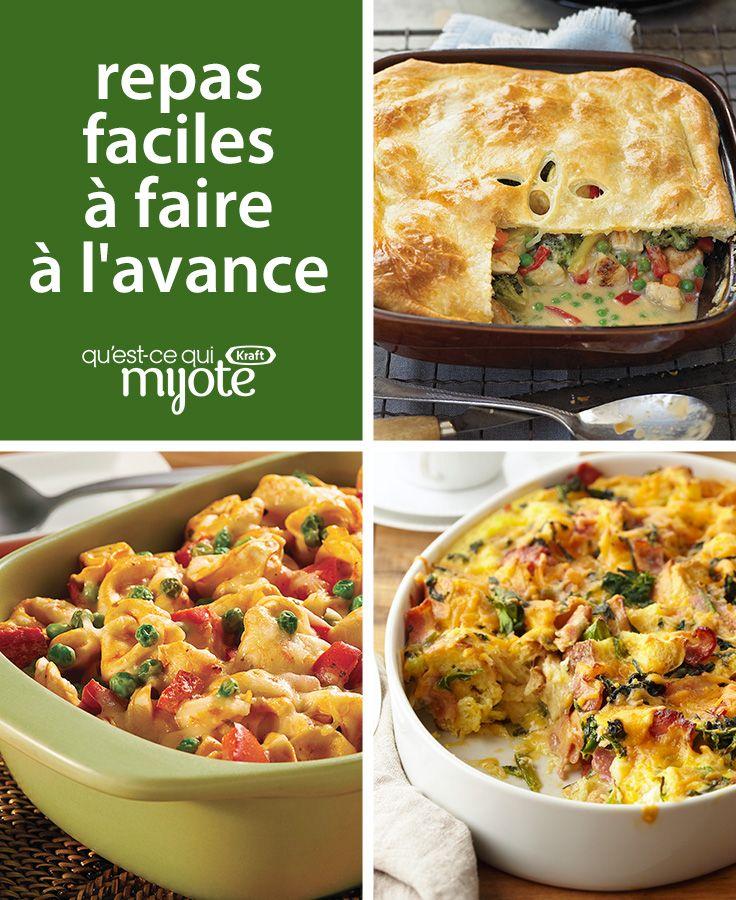 Repas faciles à préparer à l'avance #recette