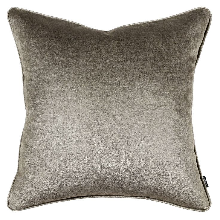 An exquisitely unique cushion. Crackled and worn like an African Elephant hide. This beautiful fabric creates the illusion of vintage leather.   Size:  55cm x 55cm Insert:  100% premium feather Hidden zipper Front:  velvet Back:  velvet Piping:  velvet