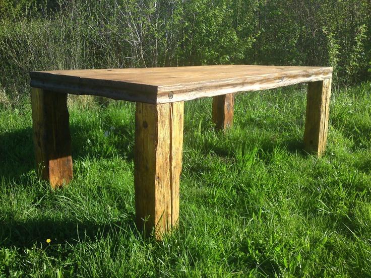 Deko Ideen Aus Altholz : cooler Tisch aus Altholz! dies und das ...