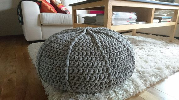 Check out this item in my Etsy shop https://www.etsy.com/se-en/listing/463054206/handmade-crochet-pouf-in-recycled