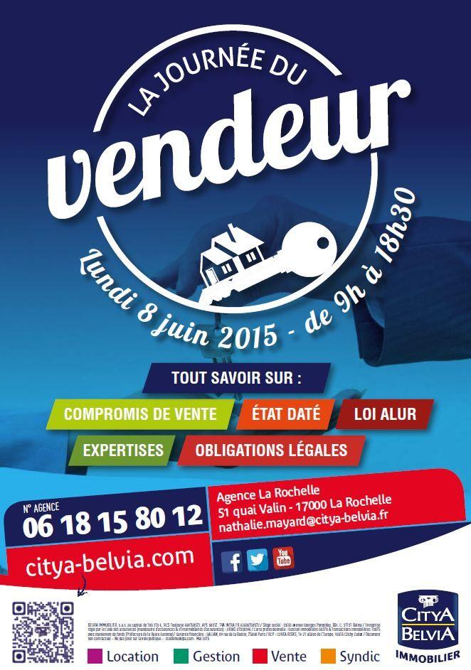 Blog Citya - Belvia Immobilier: Le 8 Juin - Journée du Vendeur à l'agence de La Rochelle