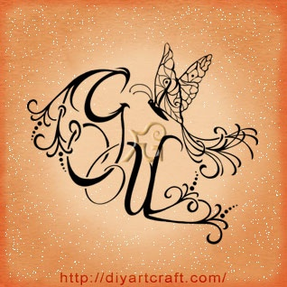 #butterfly #monogram #tattoo GUR