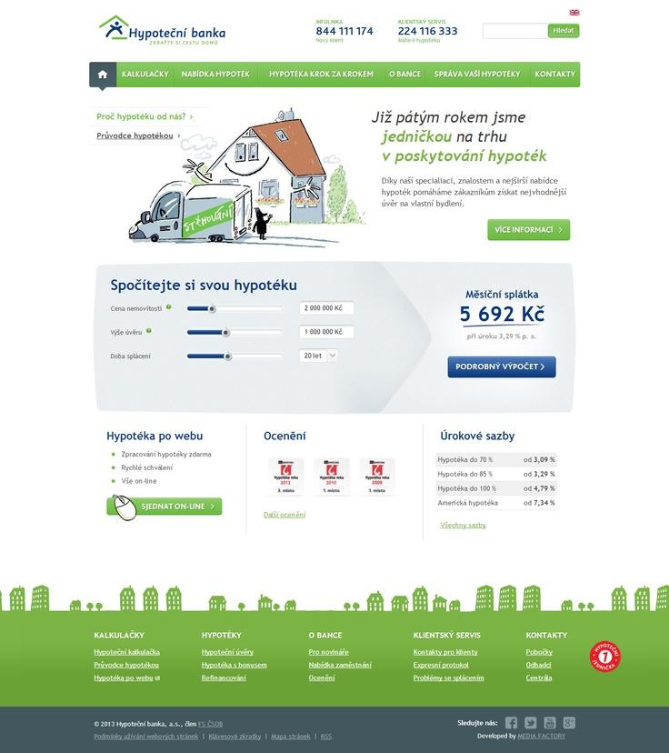 New website for Hypoteční banka is finally out! #webdesign #bank #web