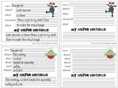 Write a super sentence ebook