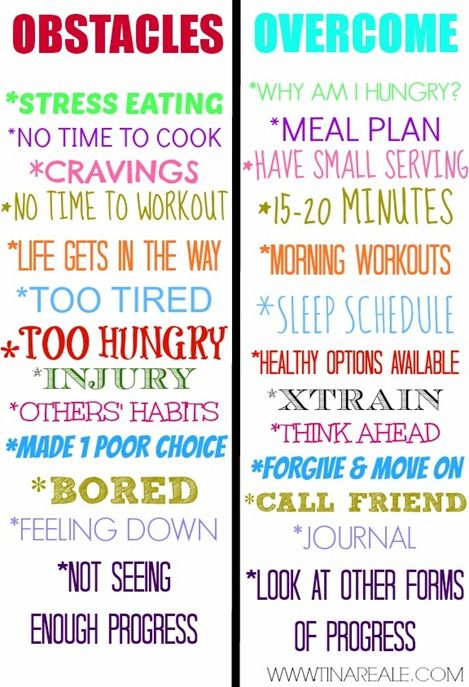 How to OVERCOME OBSTACLES to working out and eating well