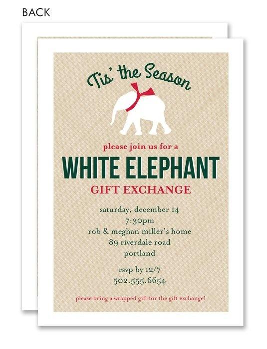 22 best White Elephant Party images on Pinterest | Elephant party ...