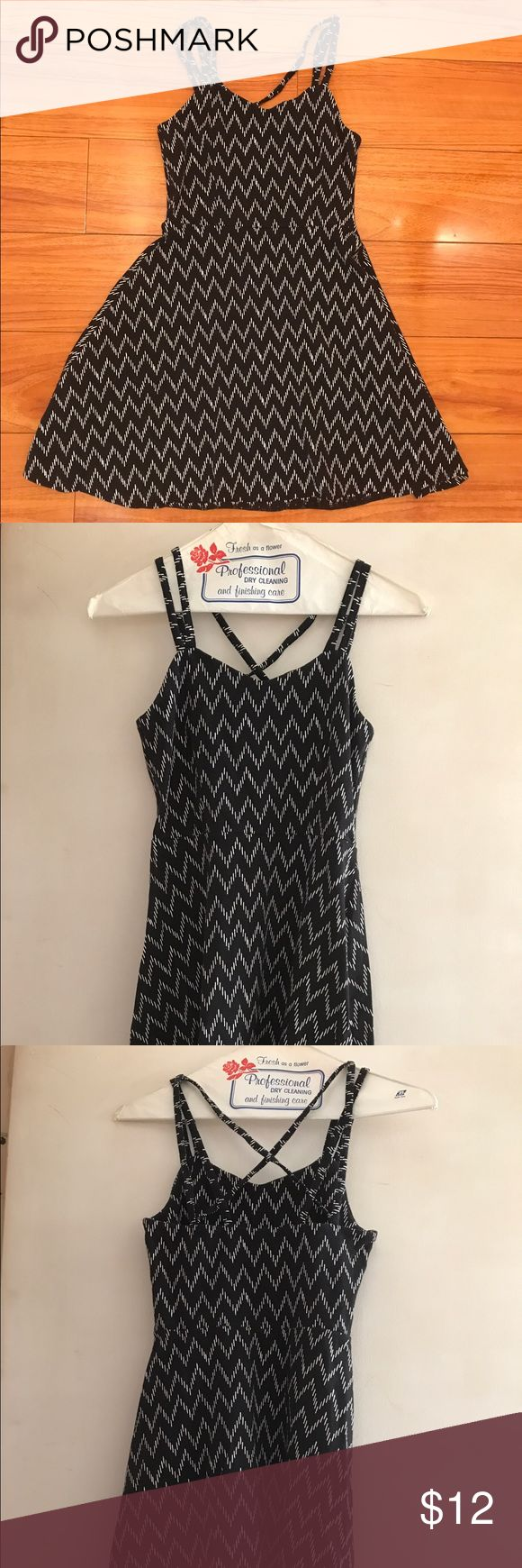 AEROPOSTALE Black and White Skater Dress Aeropostale Black and white patterned skater dress. Great for casual wear or semi- formal! Worn once. Price is negotiable. Aeropostale Dresses Mini