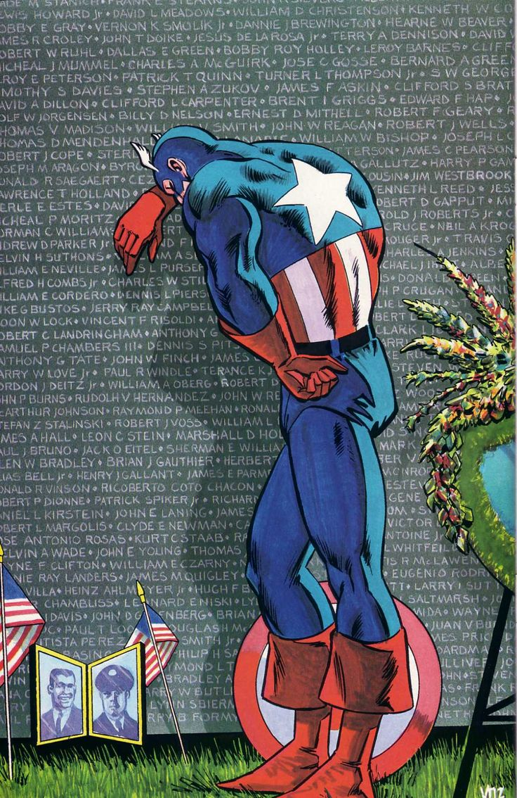 Captain America by Mike Vosburg. Why must you hurt me in this way?