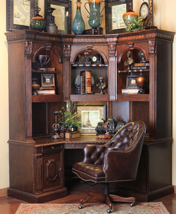 classic home office design. Home Office Tucked Neatly In A Corner Classic Design