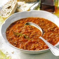 Linsensuppe mit Tomaten - Leckere Diät-Rezepte(Vegan Curry Beans)