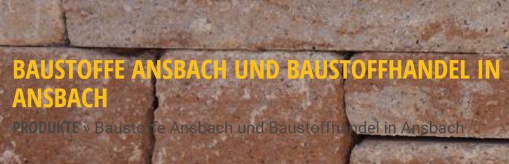 Baustoffe Ansbach und Baustoffhandel in Ansbach » Baustoffe Knörr
