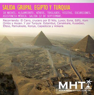 Salida Grupl a #Egipto y #Turquia!. Todo incluido, visitas y excursiones para recorrer cada ciudad y disfrutarlas. Consulta el itinerario completo.