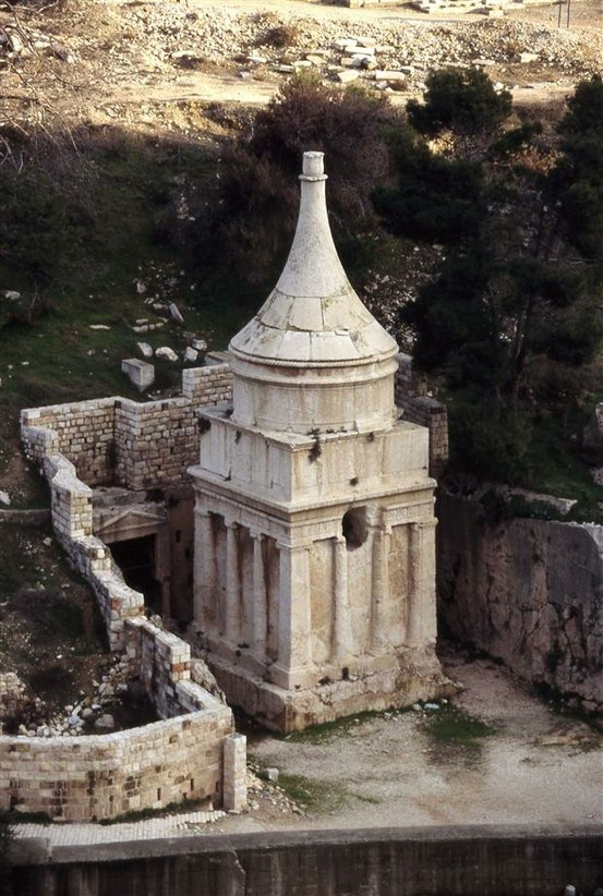 Absalom's Pillar in the Kidron Valley. Absalom's shrine has traditionally been identified as the monument of Absalom, rebellious son of King David. For centuries, it was the custom among passersby, Jews, Christians and Muslims, to throw stones at the monument. Residents of Jerusalem would bring their unruly children to the site to teach them what became of a rebellious son. The Monument of Absalom existed in the days of Josephus, and was referred to in his Antiquities.