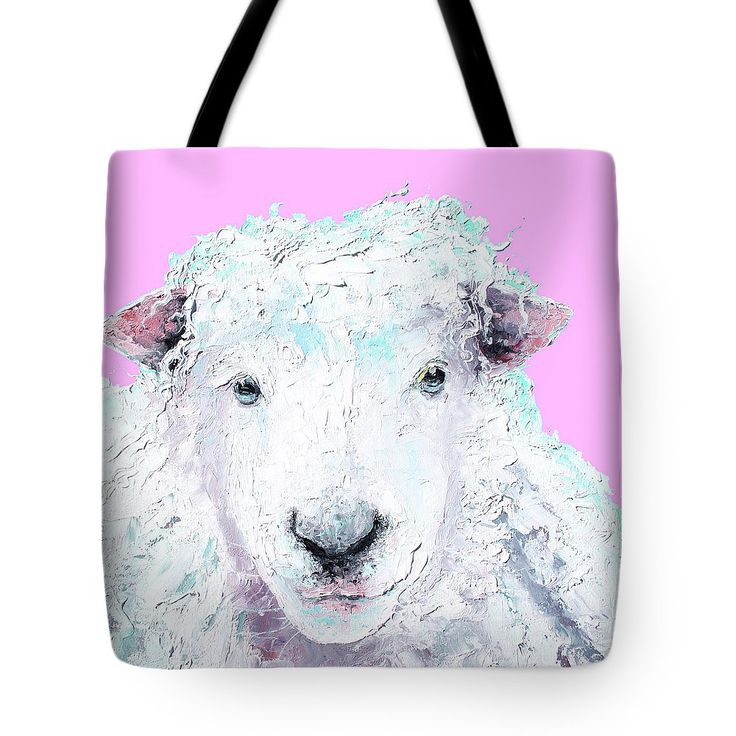 Tote Bag with woolly sheep  #totebag #shoppingbag #carrybag #carryall